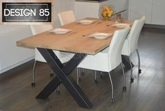 Tafel X Poot : Eikenrecht eiken tafel met u of poot timmer kantoormeubelen