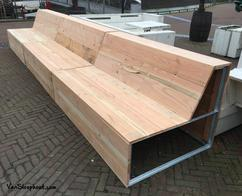 Loungebank tuin sale affordable cool witte loungebank piana with