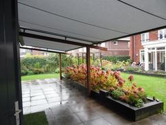 Overkapping Tuin Doek : Terrasoverkapping in de tuin