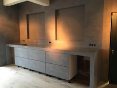 Beton ciré betonstuc afwerking keukenblad werkspot