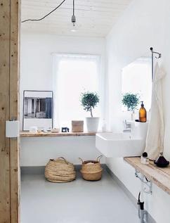 Badkamer Grijs Wit Hout.De Leukste Ideeen Over Badkamer Hout Wit Vind Je Op Welke Nl