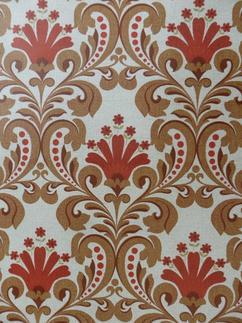 rood bruin retro medaillon behangpapier ideaal voor een klassiek
