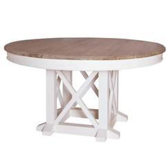 ronde witte houten eettafel