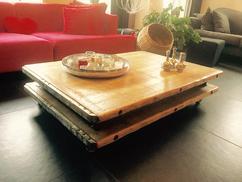 Salontafel Op Wielen : Salontafel op wielen rijdende hoogglans witte salontafel
