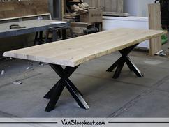 Tafel Hout Staal : Tafels staal steigerhout