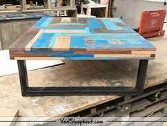 Tafel Hout Staal : Tafel op maat mooimakerij houtkwadraat