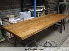 Eiken tafel behandelen tafel design