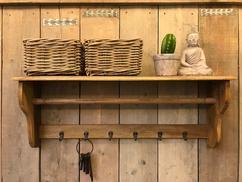 Mooie Houten Kapstok.Collectie Interieurideeen Steigerhout Kapstokken