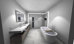 Badkamer Verlichting Ideeen : Ideeen badkamer betegelen luxe badkamer idee voor badkamers