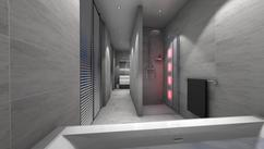 Grote Badkamer Ideeen : Badkamer ideeen grijs grijs en oranje badkamers met vormen