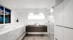 Badkamer vloer steentjes mozaiek tegels in de badkamer badkamer
