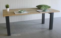 Industriele Tafel Poten : Industriële tafel met witte stalen poten industriële tafel op maat