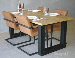 Industriele Tafel Poten : Industriele tafel onderstellen kopen meubelplaats