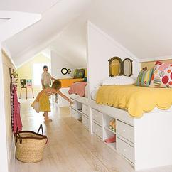 Collectie: Inrichtingsideeën voor een ruimte met een schuin dak ...