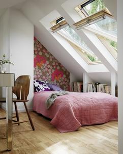 collectie: ideetjes voor een kleine kamer met een schuine wand, Deco ideeën