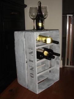 Collectie Mooie En Originele Wijnrekken Verzameld Door