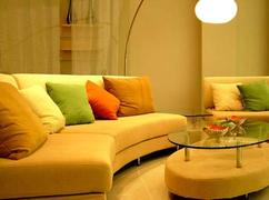 Warme kleuren woonkamer