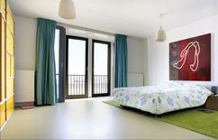 Collectie gietvloer in slaapkamer verzameld door motionvloer bv