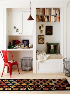 leuk idee voor een inbouwkast in een kleine
