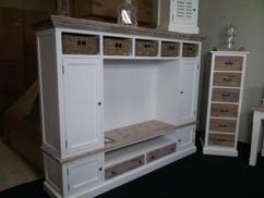 Tv Meubel Landelijk : Tv meubel met manden tv kast landelijk j line te koop