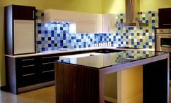 Moderne Retro Keuken : Kleine moderne keuken open zwart hout retro mobalpa