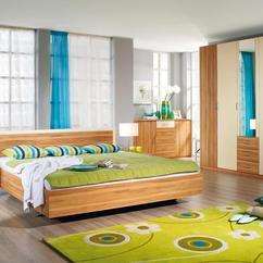 retro moderne slaapkamer groen