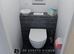 Wasbakje voor toilet kleur beige cm breed te koop dehands be