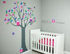 Muurstickers Babykamer Beertjes.Collectie Muurschilderingen Babykamer Kinderkamer Gemaakt Door