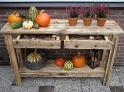 Steigerhout Sidetable Tuin.Collectie Mooi Voor In De Tuin Verzameld Door Simonemensink141070