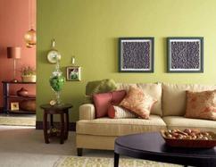 Groene Wand Woonkamer : 2 gemengd groen. kleuren woonkamer veranderen van grijs naar groen