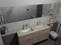 Wandbekleding badkamer alle materialen op een rijtje