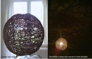 Dag Licht Lamp : Lamp van touw en behang bij daglicht en wanneer de lamp s