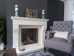 Stijlvol landelijk interieur met klassieke kleuren en materialen ...