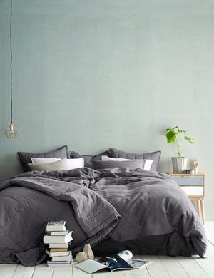 Mooie kleur muur slaapkamer. Foto geplaatst door Mmate op Welke.nl