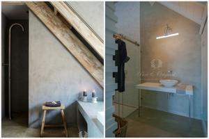 Woonblog: Beton look met verf van Pure & Original. Badkamer ...