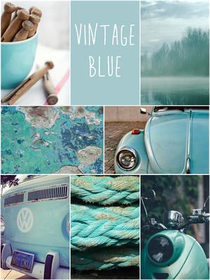 VINTAGE BLUE - Blauw tinten voor in het interieur - Aqua - Turquoise ...