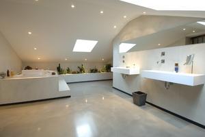 Beton-cire badkamer... alternatief voor Tadelakt. Foto geplaatst ...