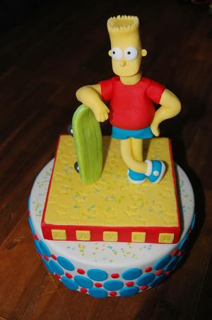 Pleasant Bart Simpson Taart Foto Geplaatst Door Lissebis Op Welke Nl Personalised Birthday Cards Veneteletsinfo