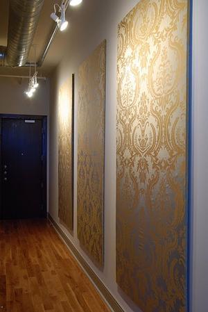 Zo mooi dit! Panelen bekleden met luxe behang/stof.. Foto ...