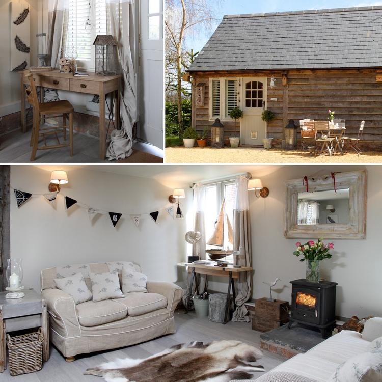 artikel: vrijstaande cottage met landelijke inrichting om helemaal