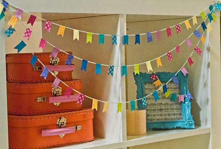 Artikel versier je huis met vrolijke vlaggenslingers op welke